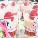 Rosewater and Rasberry Panna Cotta