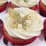 Butterfly cupcake asian wedding